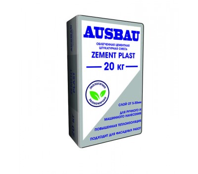 АУСБАУ Штукатурка цементная PLAST ZEMENT, 20 кг
