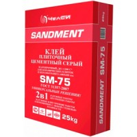 Клей плиточный цементный жаростойктй 1200С SM-75 25кг