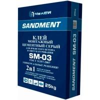 Клей кладочный цементный для ячеитых блоков SM-03 25кг