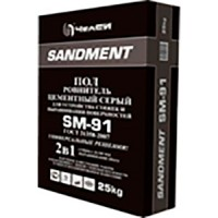 Ровнитель для пола цементный 25 кг SANDMENT SM-91 (10-100мм)